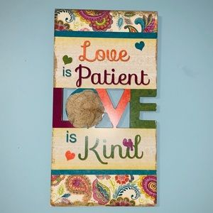 Paisley 'Love is Patient, Love is Kind' Wall Art